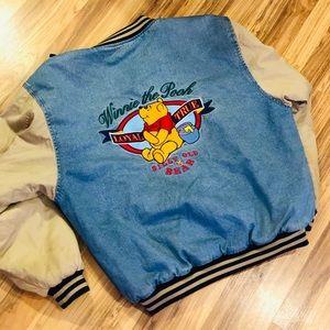 Vintage Winnie The Pooh bomber jean jacket